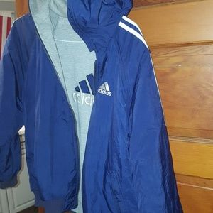 Adidas windbreaker and reversible sweatshirt